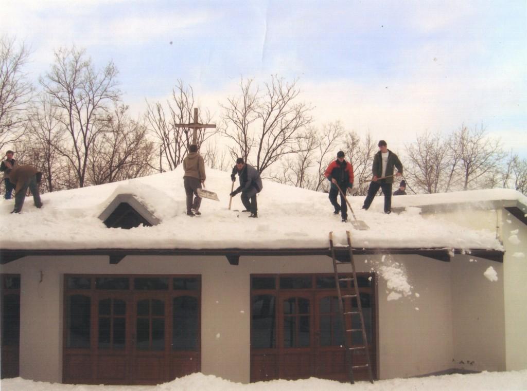 odhadzovanie snehu